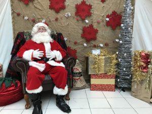 Santa Claus in his Festive Grotto