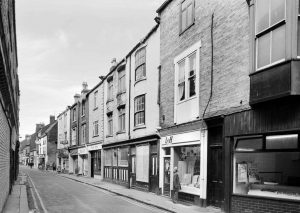 a vintage black and white photograph of Fore Bondgate