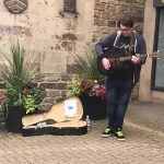 Busker Performance outside of the Newgate Shopping Centre