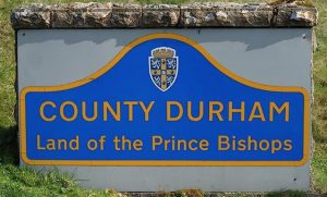 County Durham; Land of the Prince Bishops road signage