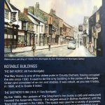 A picture of a Display board, Fore Bondgate Noteable Buildings