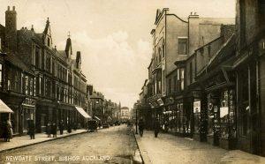 Vintage black and white photo of Newgate Street