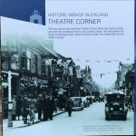 A picture of a Display board, Theatre Corner, Bishop Auckland