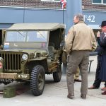 Army vehicle at the 1940s Day event