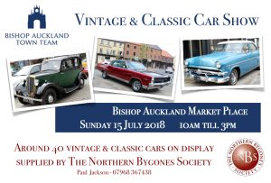 Vintage and Classic Car Show, Sunday 15th July 2018