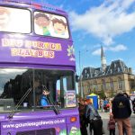 The Big Purple PlayBus in the Market Place