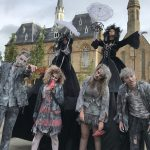 Performers at Monster Saturday in Bishop Auckland Market Place