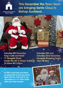 Santas Grotto Flyer, Saturday 8th, 15th and 22nd December 2018