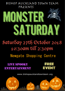 Monster Saturday Flyer, Saturday 27th October 2018