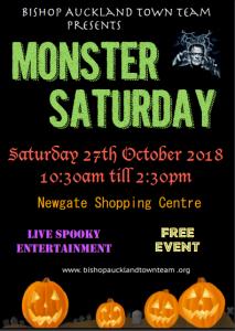 Monster Saturday Flyer, Saturday 27th October 2018