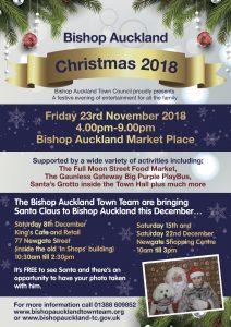 Bishop Auckland Christmas Flyer, Friday 23rd November 2018