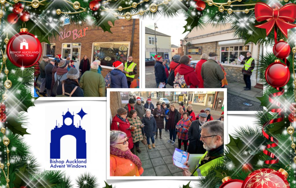 Final Day, Advent Window Display collage of photos with Festive border