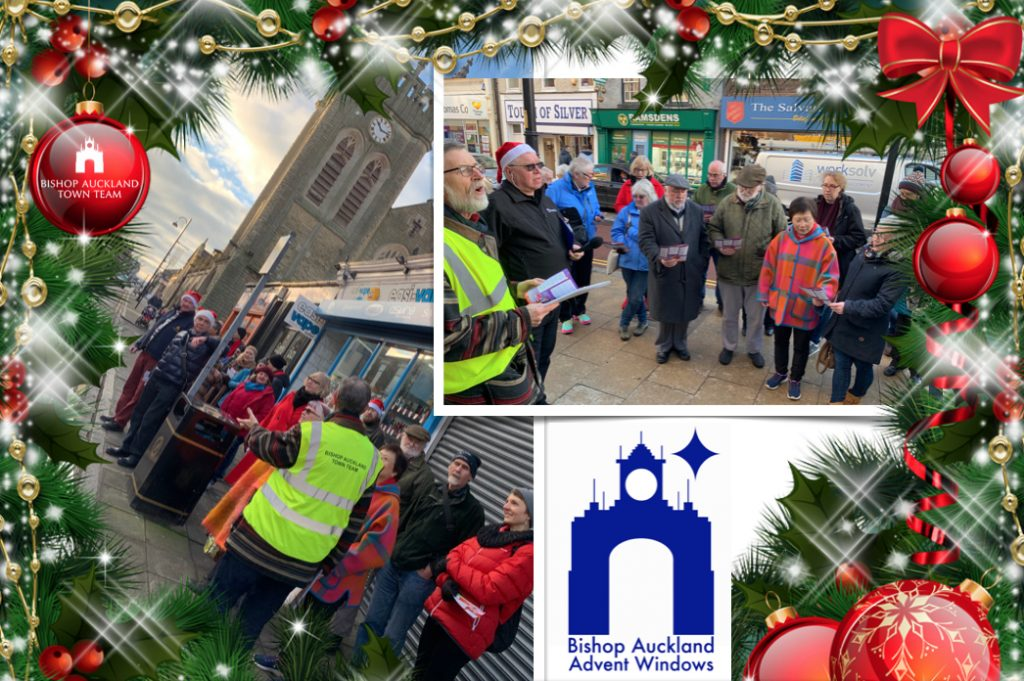 Final Day, Advent Window Display photo collage with a Festive border