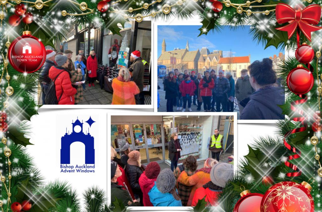 Final Day, Advent Window Display photo collage
