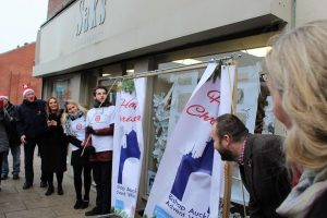 Advent Window being unveiled at SAKS Hair and Beauty