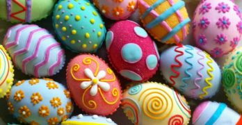 A selection of colourful Easter Eggs