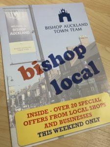 Bishop Auckland Town Team Shop Local Flyer