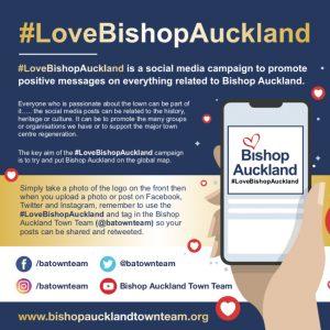 Love Bishop Auckland Flyer; #LoveBishopAuckland