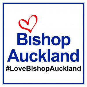Love Bishop Auckland Logo; #LoveBishopAuckland