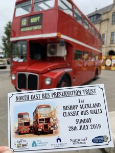 North East Bus Preservation Trust; 1st Bishop Auckland Classic Bus Rally, Sunday 28th July 2019