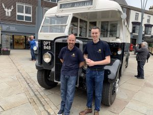Lee Brownson and Callum Howard with Leyland Tiger TS8