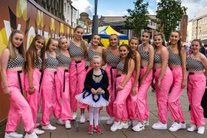 Group photograph of dancers from Sandra Welsh School of Dance