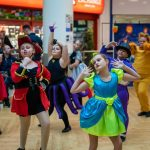 A dance performance by Sandra Welsh School of Dance, dressed in Halloween costumes