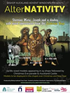 AlterNATIVITY flyer, starring Mary, Joseph and a donkey with guest appearances from the Zurburan Boys