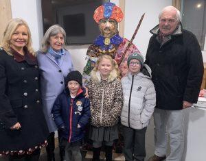 Day 1; Angela Davison (Deputy Head Teacher) Stefa and Bob McManners along with school children Elize Barnes, Lily Nellis and Callum Nellis