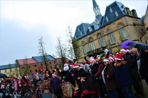 Day 24; Christmas Eve Parade in Bishop Auckland Market Place