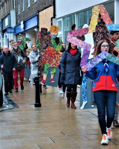 Day 24; Christmas Eve Parade travelling through Newgate Street