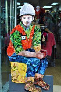 Day 7; AlterNATIVITY display called 'Joe' at Scope charity shop