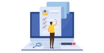 Email sign up form illustration